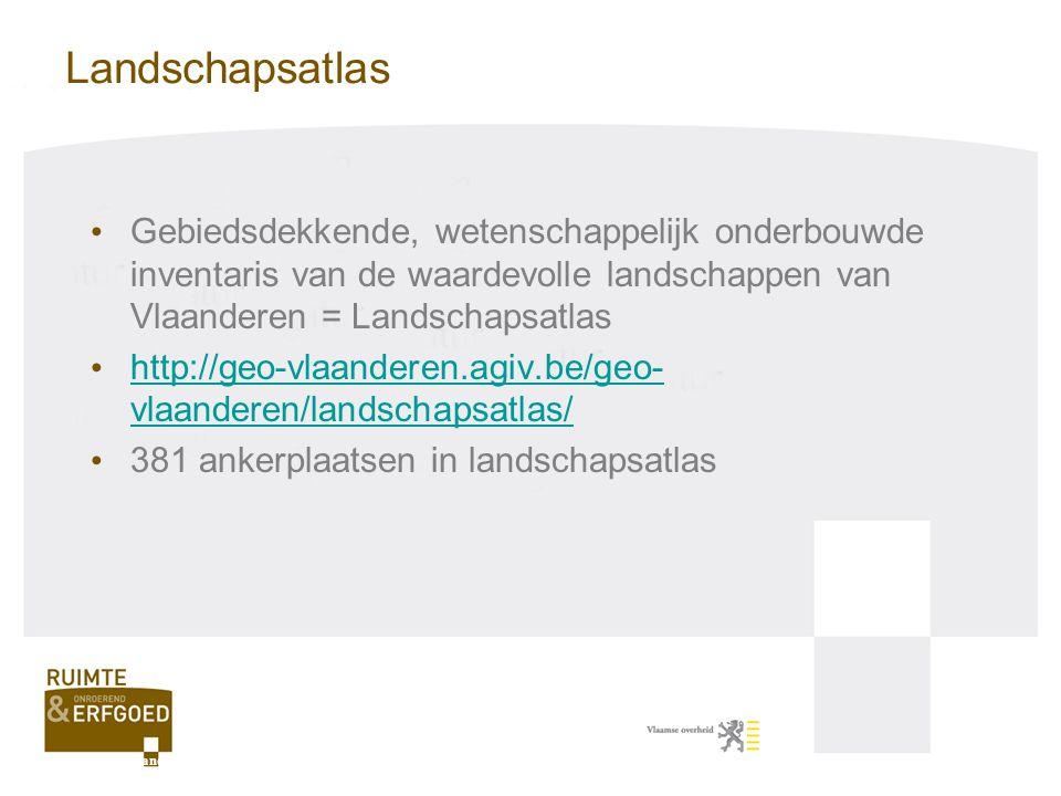 Landschapsatlas Gebiedsdekkende, wetenschappelijk onderbouwde inventaris van de waardevolle landschappen van Vlaanderen = Landschapsatlas http://geo-v