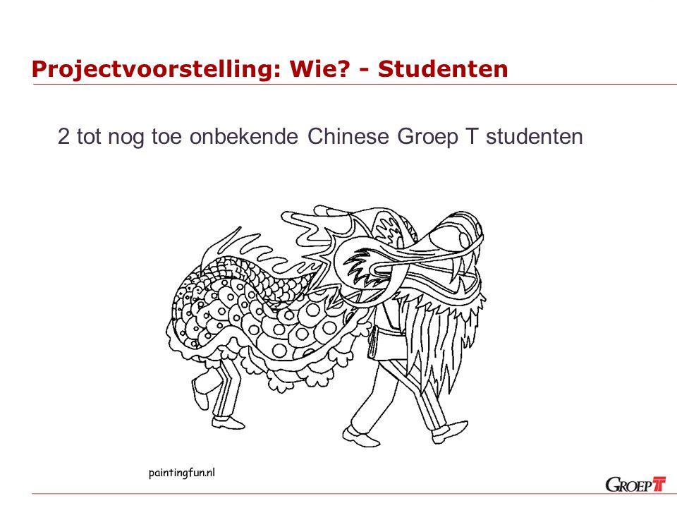 Projectvoorstelling: Wie? - Studenten 2 tot nog toe onbekende Chinese Groep T studenten