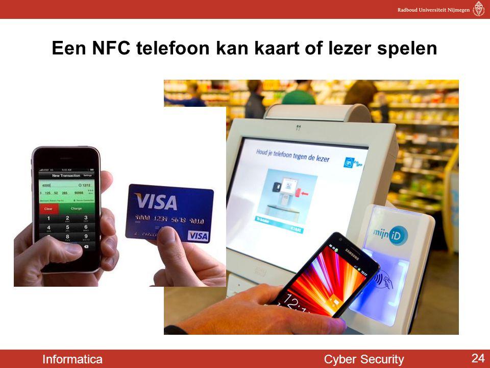 Informatica Cyber Security 24 Een NFC telefoon kan kaart of lezer spelen