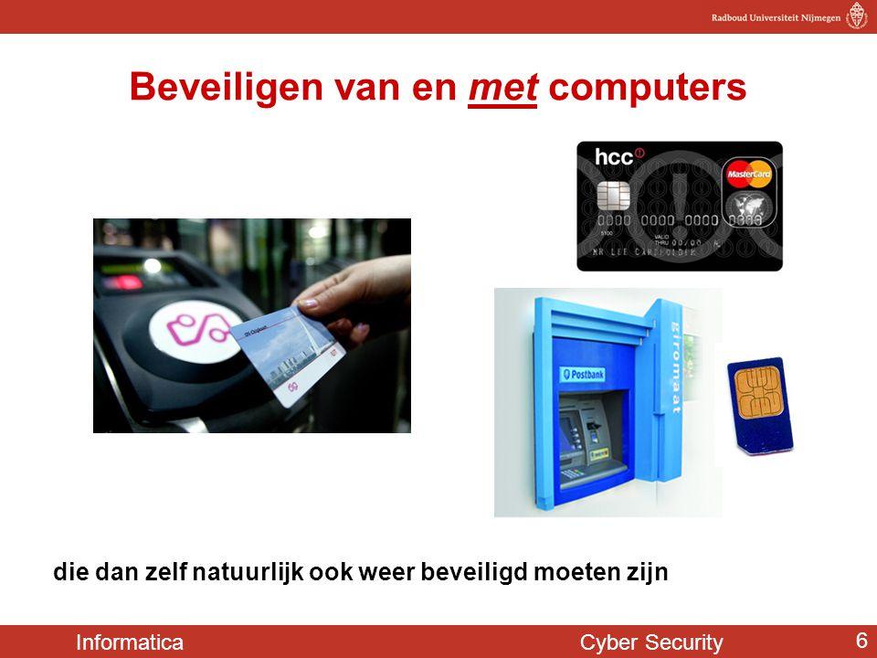 Informatica Cyber Security 17 e-identiteitskaart Dezelfde chip zit ook in identiteitskaarten (sinds 2006)