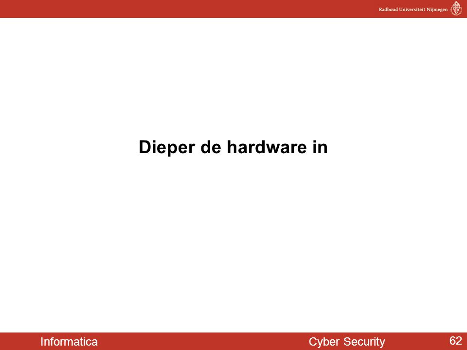 Informatica Cyber Security 62 Dieper de hardware in