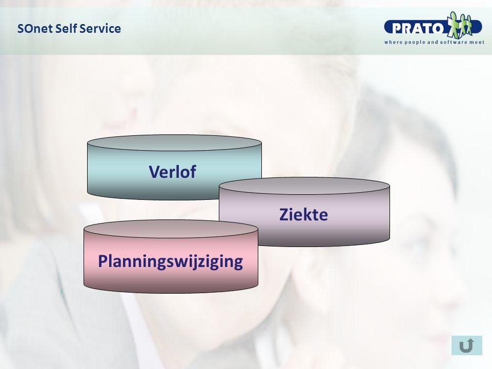 SOnet Self Service Verlof Ziekte Planningswijziging