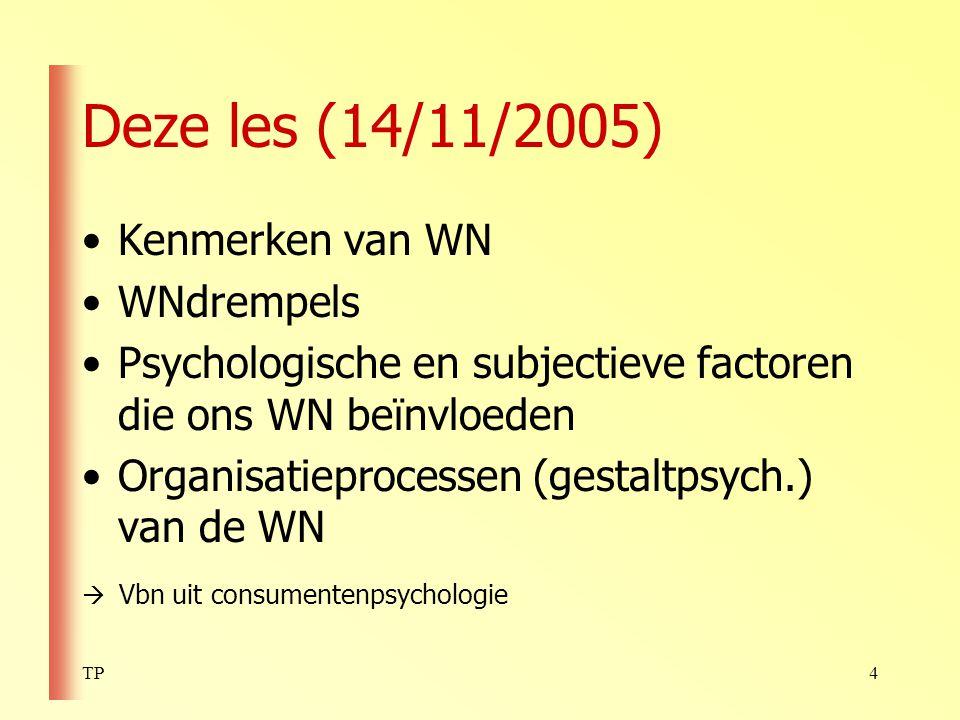 TP5 Kenmerken van WN – 1 (p.
