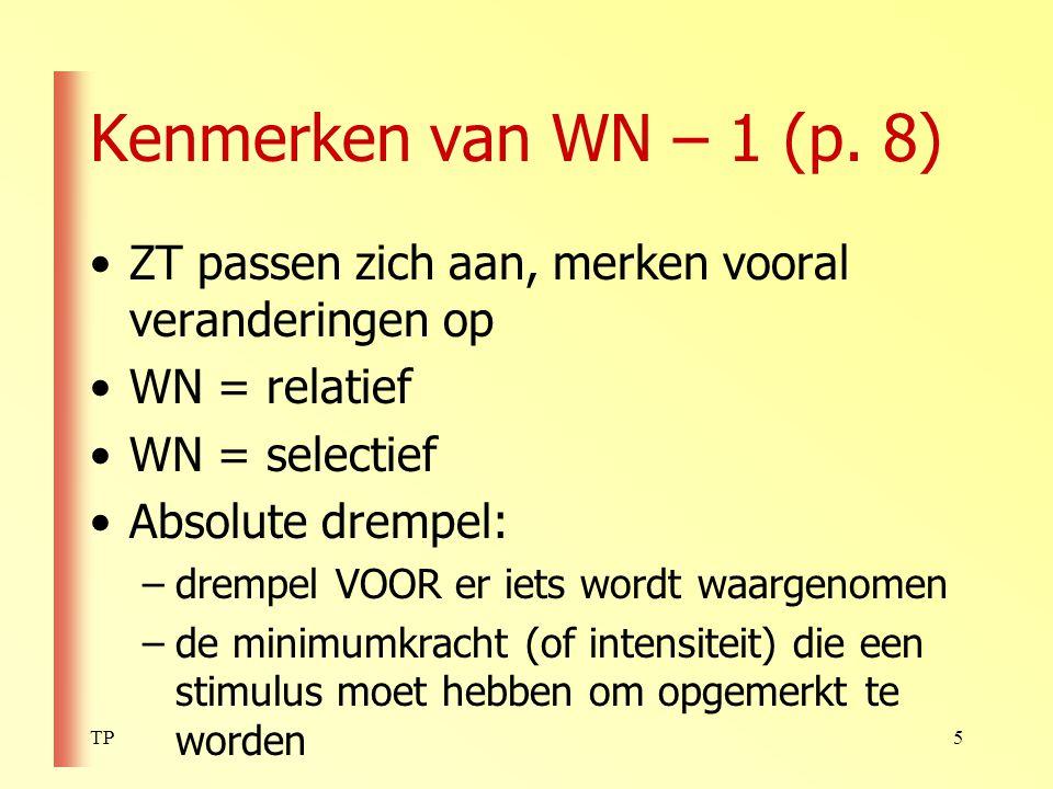 TP26 Taak van de hersenen bij WN (p.