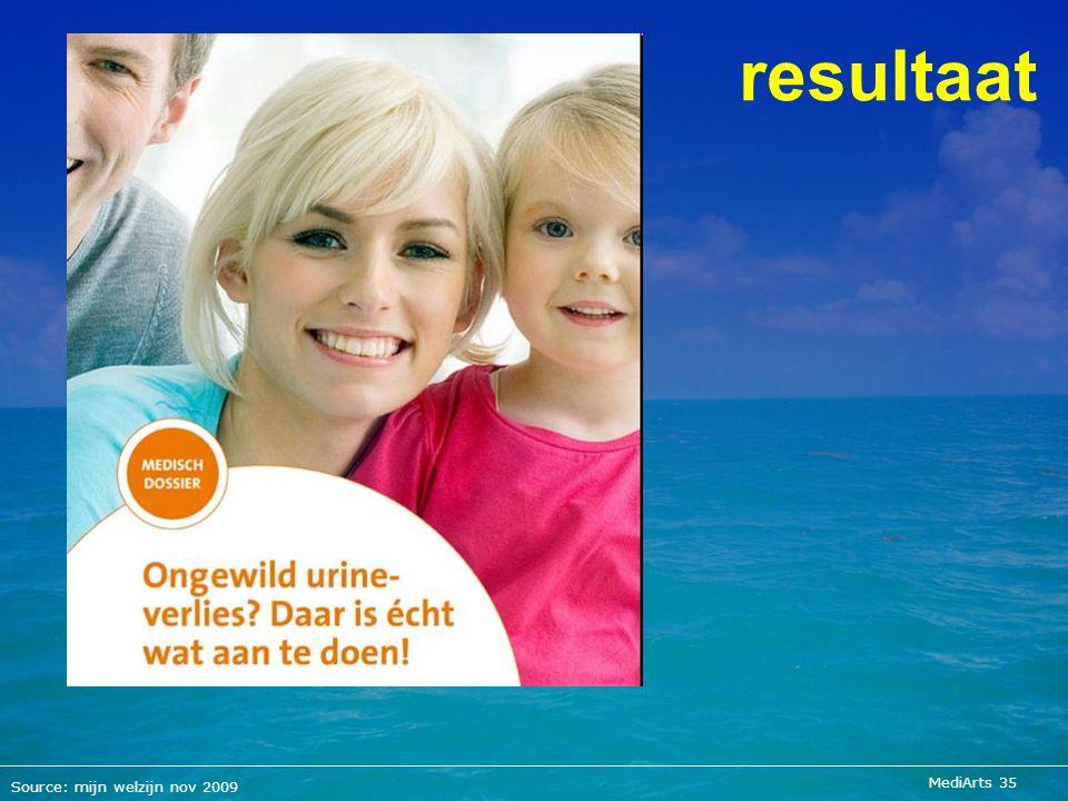 MediArts 35 resultaat Source: mijn welzijn nov 2009