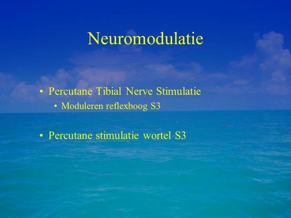 Neuromodulatie Percutane Tibial Nerve Stimulatie Moduleren reflexboog S3 Percutane stimulatie wortel S3