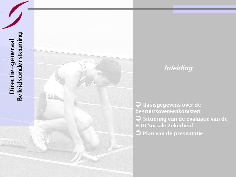 Evaluatie van een bestuursovereenkomst Pagina 14 21-11-2007 De evaluatieregels- en criteria Directie-generaal Beleidsondersteuning 2  Evaluatieregels  Oefening evaluatie doelbereiking  Oefening informatieprobleem