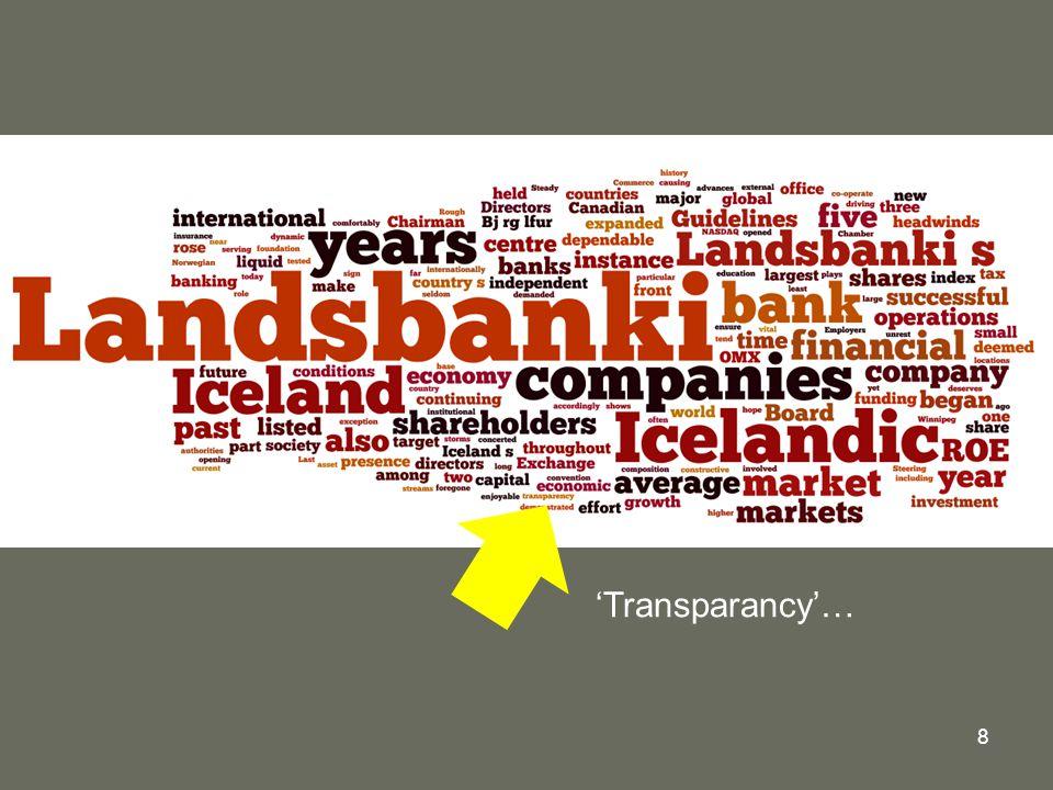 8 'Transparancy'…