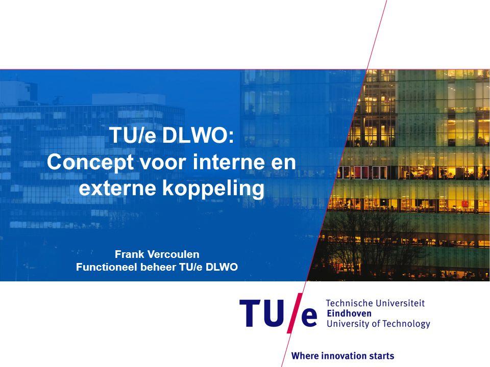 TU/e DLWO: Concept voor interne en externe koppeling Frank Vercoulen Functioneel beheer TU/e DLWO