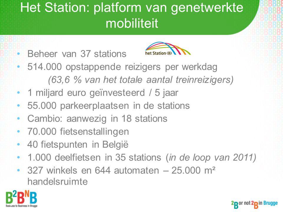Belang van Brugge voor de spoorwegen Woon-werkverkeer naar Brussel: Marktaandeel spoor = 70 % Aantal opstappende reizigers in 2010: 19.666 reizigers = 8 ste plaats in België = 1 ste plaats in West-Vlaanderen Tewerkstelling in en rond het station:  3.000 personen Haven van Zeebrugge 7,7 miljoen ton via het spoor = 19 % van het hinterlandvervoer