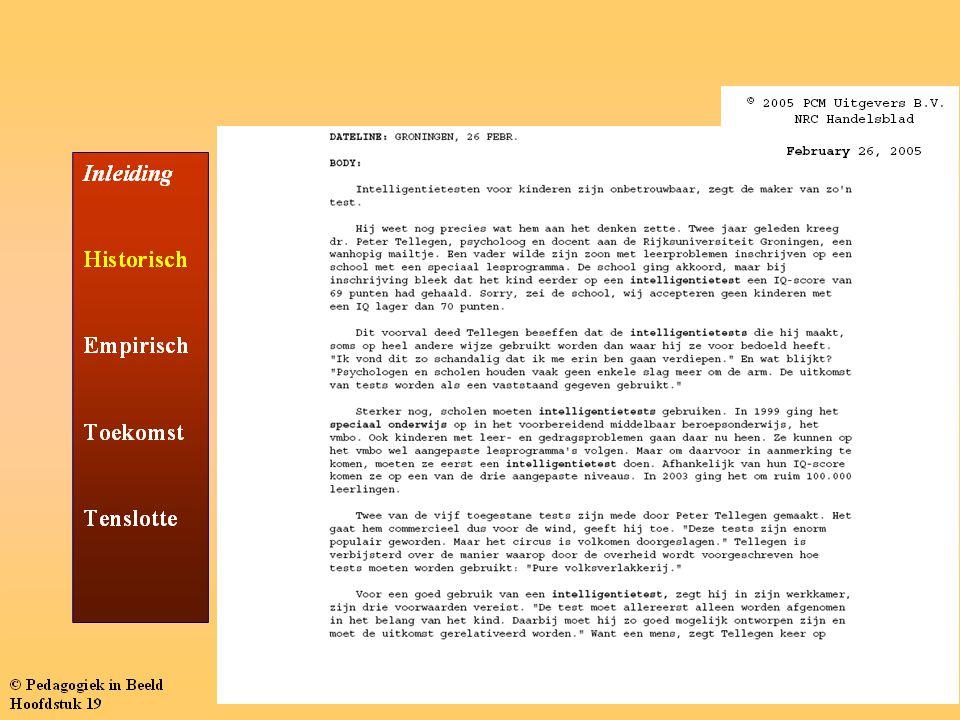  Groep 6 (gedoubleerd in groep 3)  Zwak leesbegrip  Traag lezen van woorden in een lijst (21 woorden per min.)  Traag lezen van woorden in een tekst (30 woorden per min.)  Veel visuele leesfouten (doen voor doel, tot voor tol etc.)  Veel spellingsfouten in zowel een woord- als zinsdictee (grood, haud, veest, roejboot, breeda)  Vrij lage totaal score op intelligentietest (85 op WISC-R)  Net voldoende score op hoofdrekentest Casus Jan