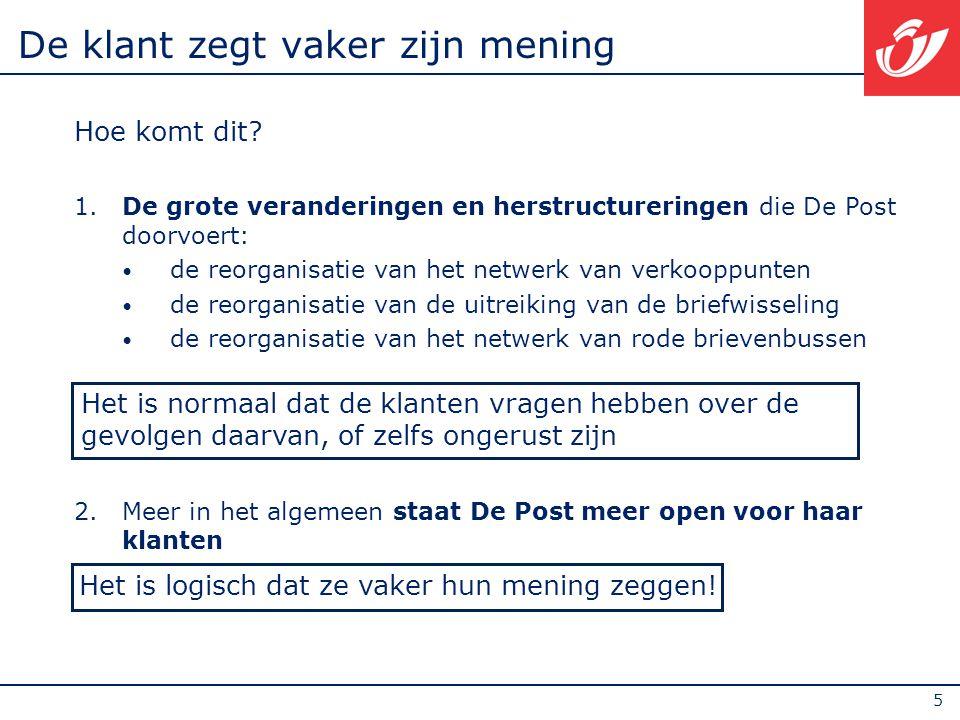 16 Verkoopnetwerk verbeteren: het fysieke netwerk  Koen Van Gerven zal dit uitvoerig bespreken De Post is tegenwoordig aanwezig in ¾ van de buurtwinkels (krantenwinkels, voedingszaken, kruideniers, supermarkten, tankstations…)