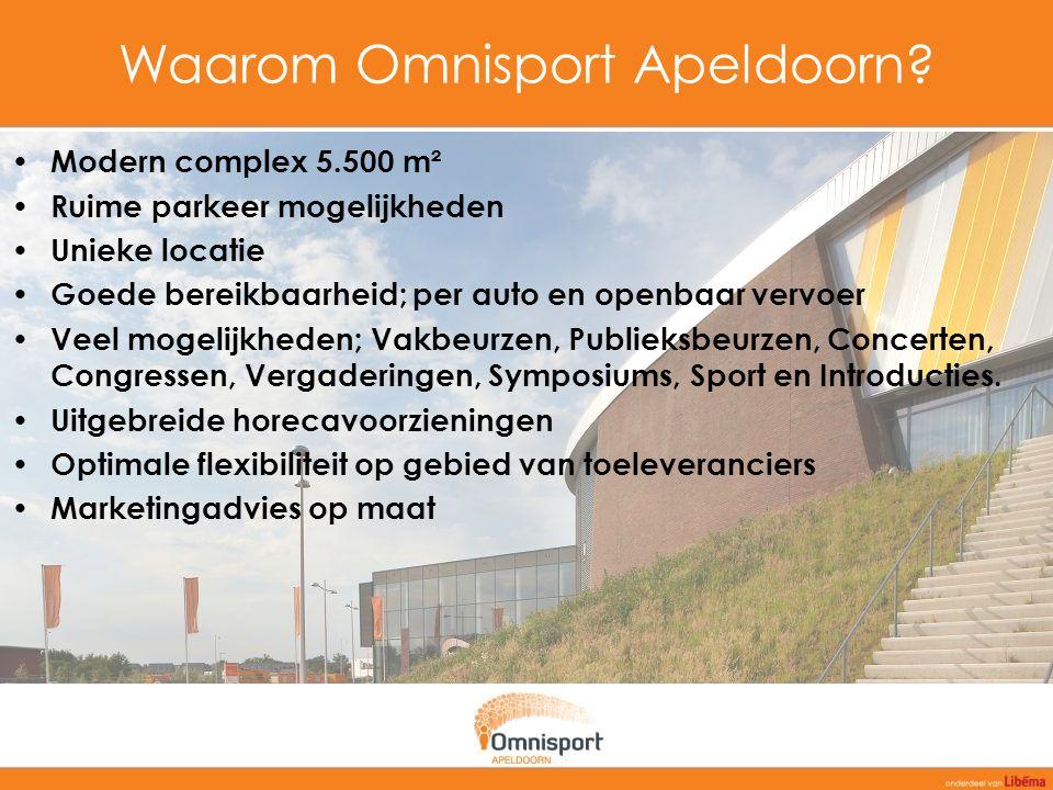 Contact Neem vrijblijvend contact met ons op: Omnisport Apeldoorn De Voorwaarts 55 7321 MA Apeldoorn T 088 - 900 03 50 F 073 - 521 86 34 E zakelijk@libema.nl I www.libema.nl/zakelijk