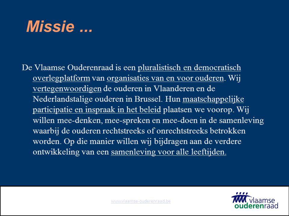 www.vlaamse-ouderenraad.be Missie...