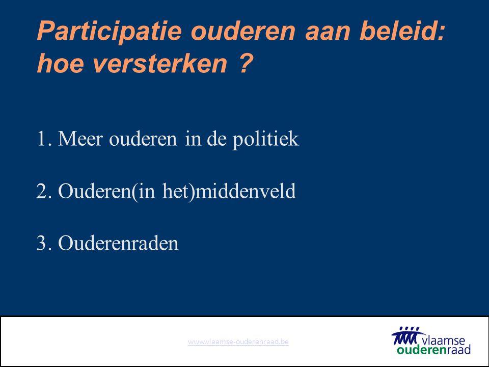 www.vlaamse-ouderenraad.be 5 Opdrachten Adviseren (en standpunten) Signaleren Informeren Sensibiliseren Overleg