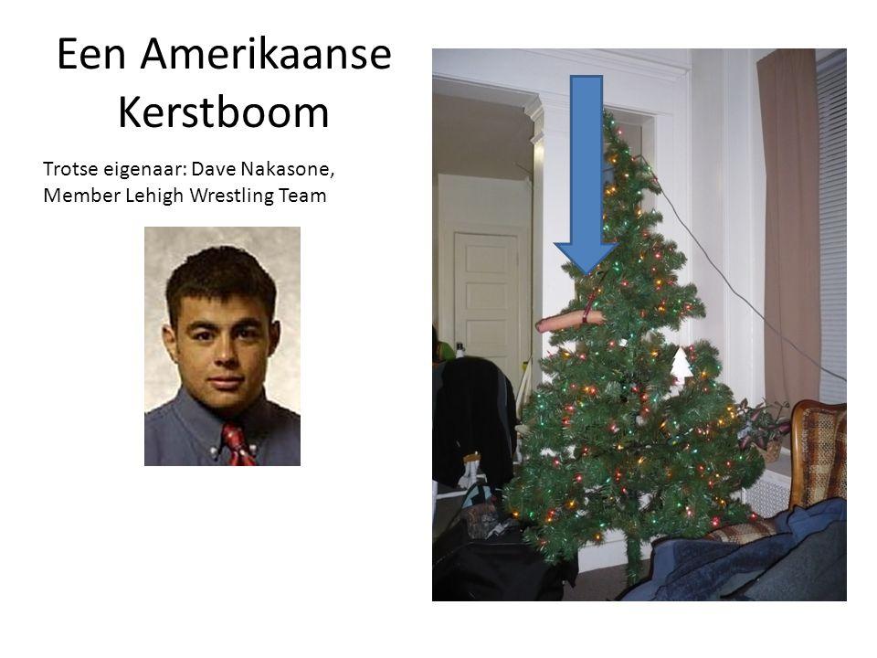 Een Amerikaanse Kerstboom Trotse eigenaar: Dave Nakasone, Member Lehigh Wrestling Team