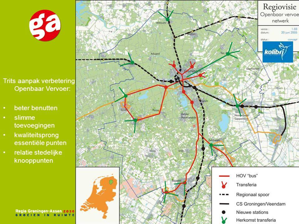 Trits aanpak verbetering Openbaar Vervoer: beter benutten slimme toevoegingen kwaliteitsprong essentiële punten relatie stedelijke knooppunten