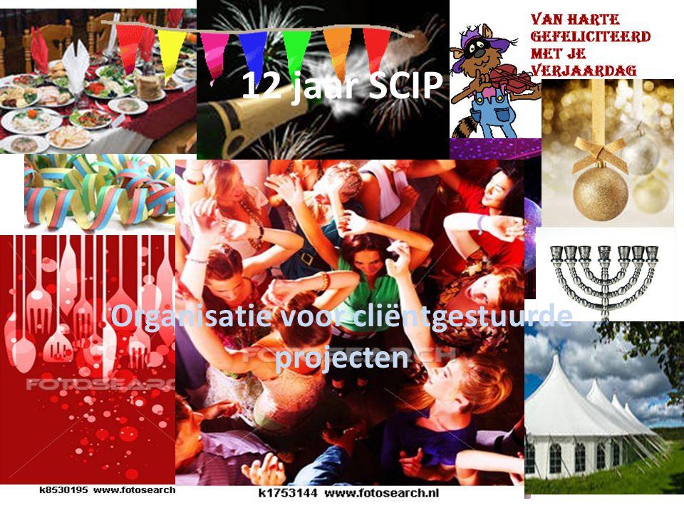 Organisatie voor cliëntgestuurde projecten 12 jaar SCIP
