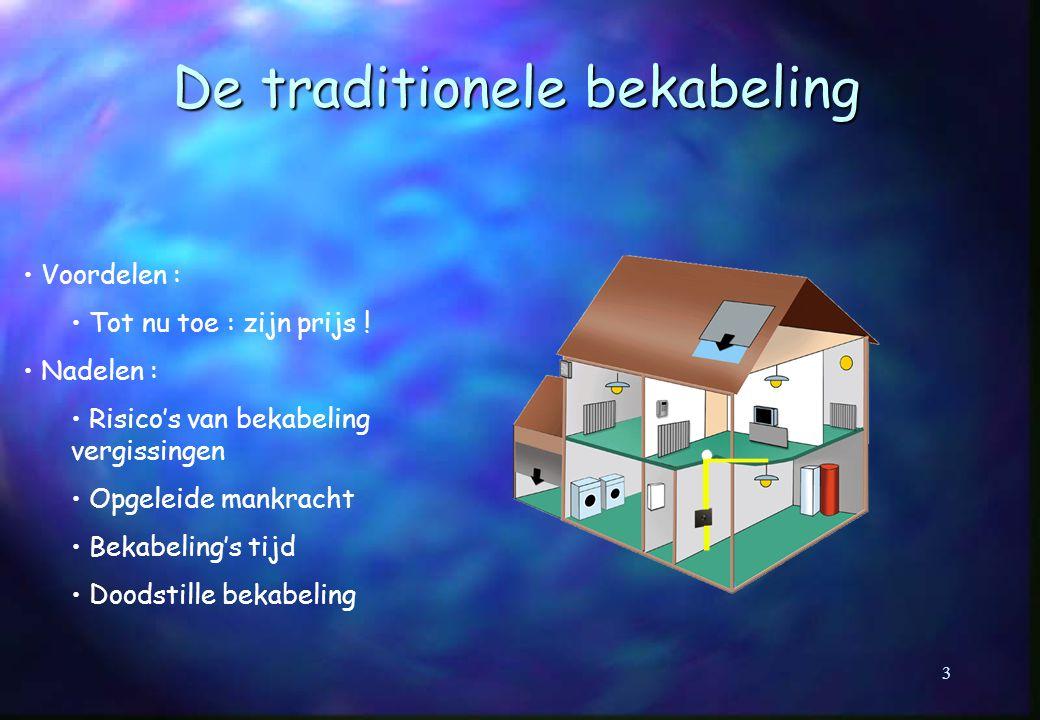 De traditionele bekabeling Voordelen : Tot nu toe : zijn prijs .