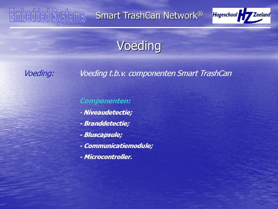 Voeding Smart TrashCan Network ® Voeding:Voeding t.b.v.
