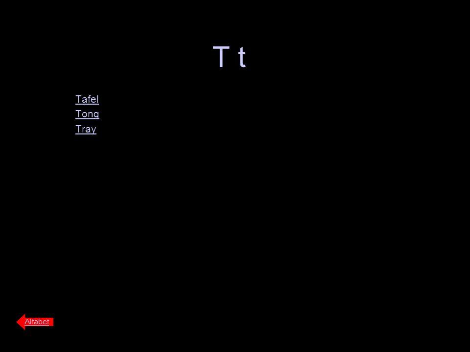 T t Tafel Tong Tray Alfabet