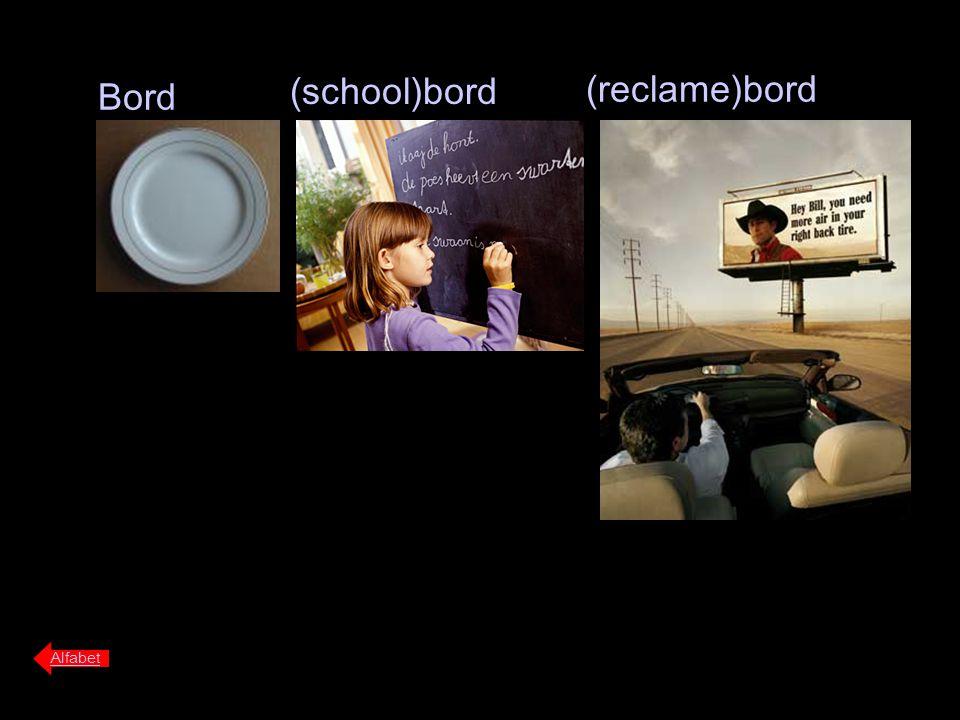 Bord (school)bord Alfabet (reclame)bord