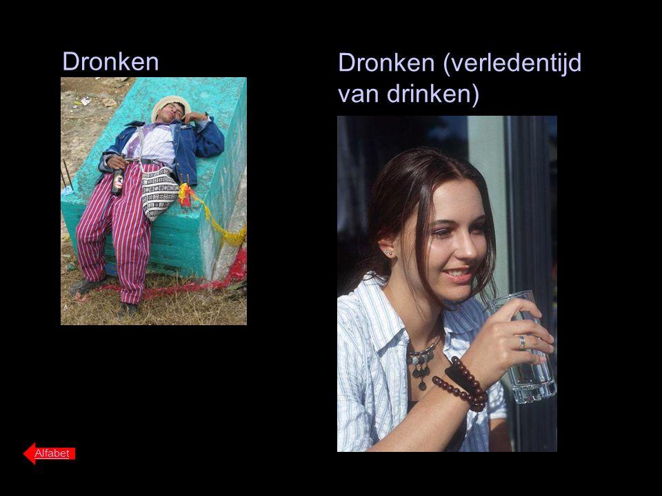 Dronken Alfabet Dronken (verledentijd van drinken)