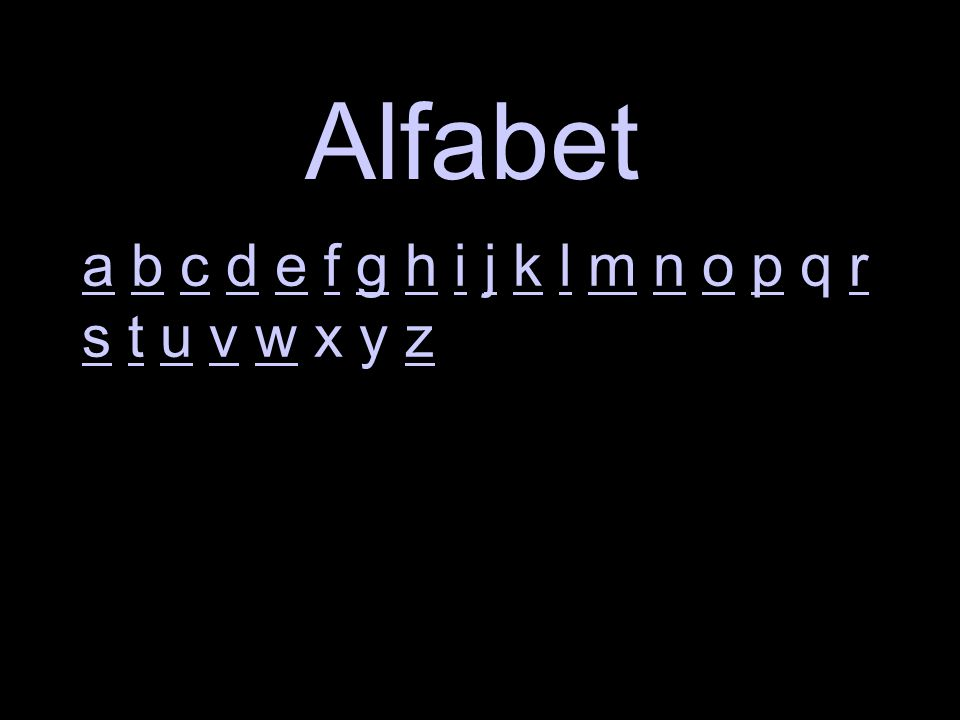 Alfabet Kolf