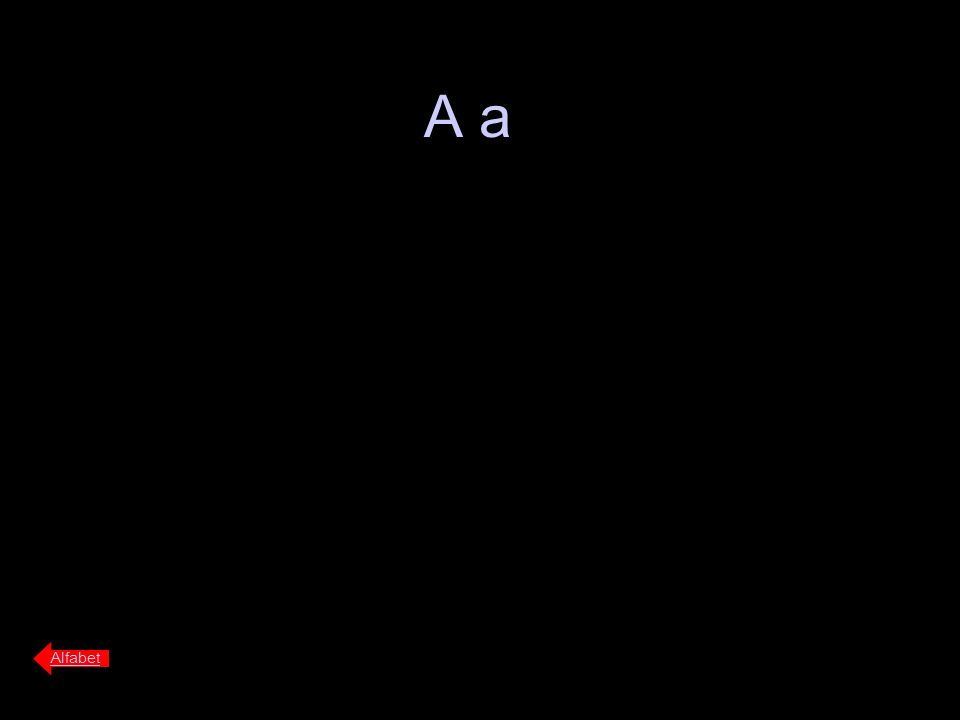 A a Alfabet