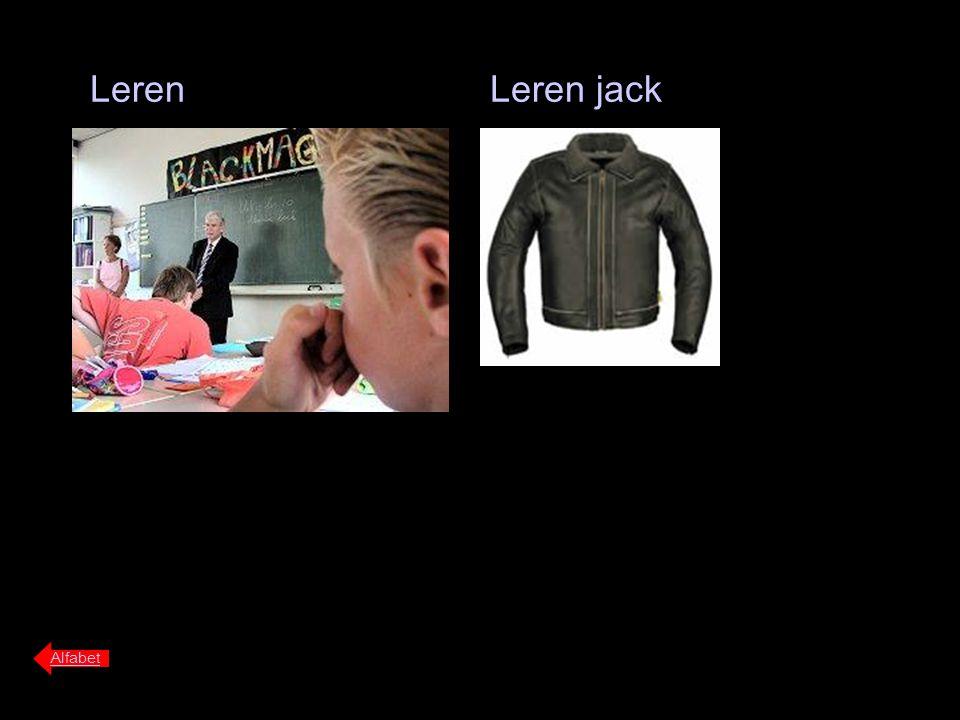 Leren Alfabet Leren jack
