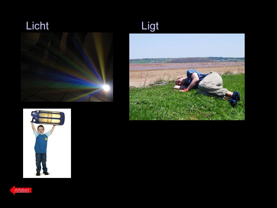 Licht Alfabet Ligt