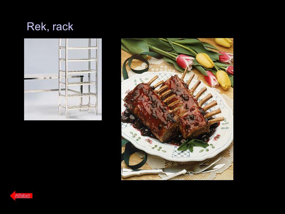 Rek, rack Alfabet