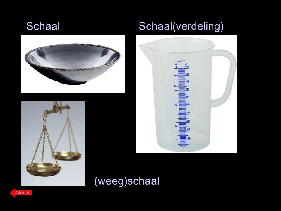 Schaal Alfabet Schaal(verdeling) (weeg)schaal