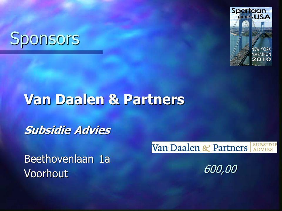 Sponsors Delta Apotheek De gezondste Hoofdstraat 24 Hillegom 250,00