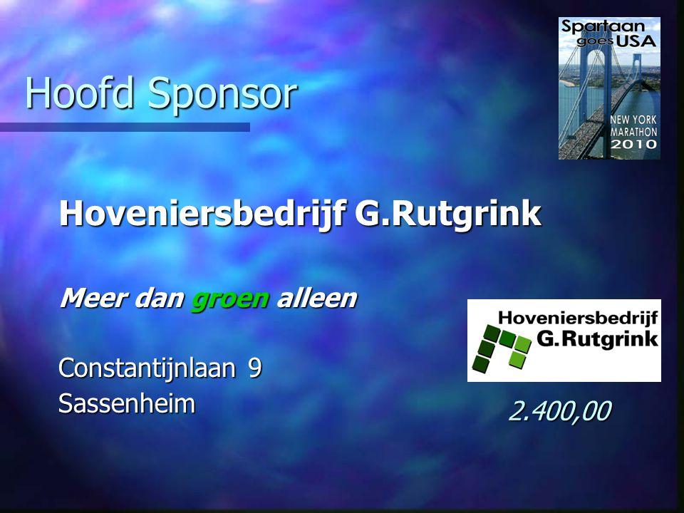 Sponsors Alex Studioos Partners in communicatie Van Meerbeekstraat 39 Hillegom Gratis ontwerp