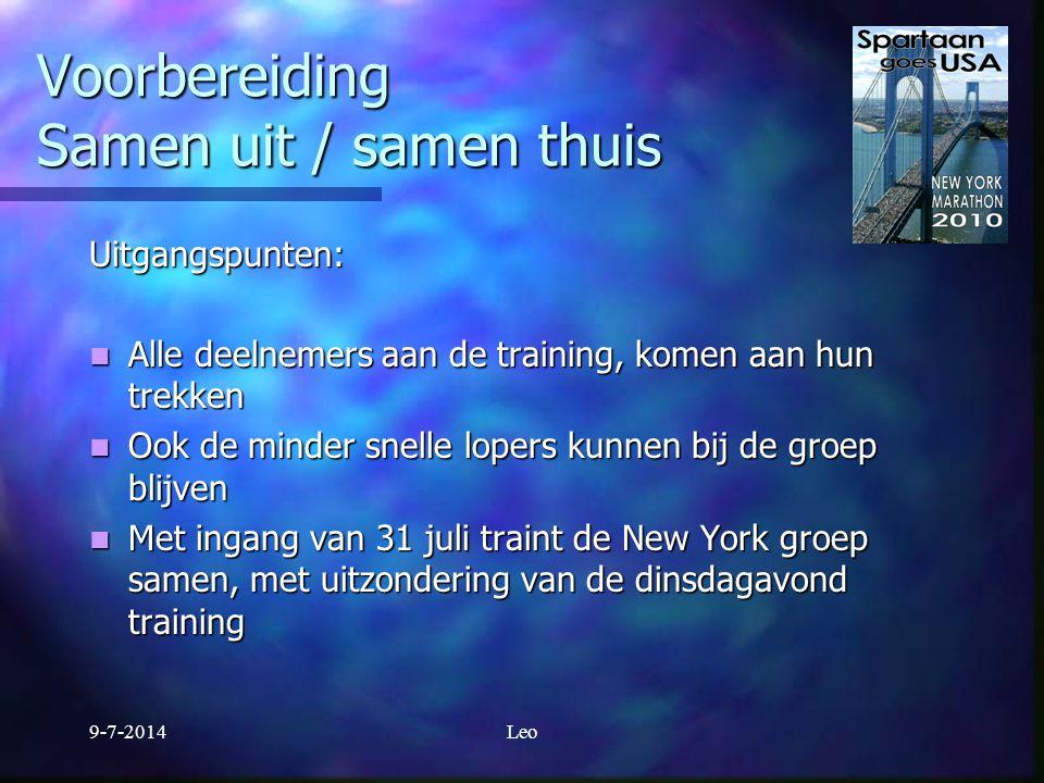 9-7-2014Aad Voorbereiding Voeding en drinken Drie basisbestanddelen: Drie basisbestanddelen: - Koolhydraten 60% - Vetten 25% - Eiwitten 15% en voldoende drinken, 2 tot 3 ltr per dag en voldoende drinken, 2 tot 3 ltr per dag Schijf van vijf Schijf van vijf http://www.runinfo.nl/sportvoeding.htm#Duursporters http://www.runinfo.nl/sportvoeding.htm#Duursporters http://www.runinfo.nl/sportvoeding.htm#Duursporters Probeer verschillende eet- en drink strategieën uit tijdens trainingen en prestatielopen Probeer verschillende eet- en drink strategieën uit tijdens trainingen en prestatielopen