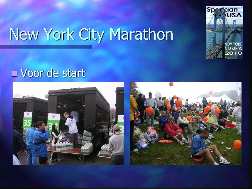 New York City Marathon Naar de start Naar de start - Rond 7:30 met eigen bus - Geen eigen chip maar D-Tag - Kleding in transparante tas