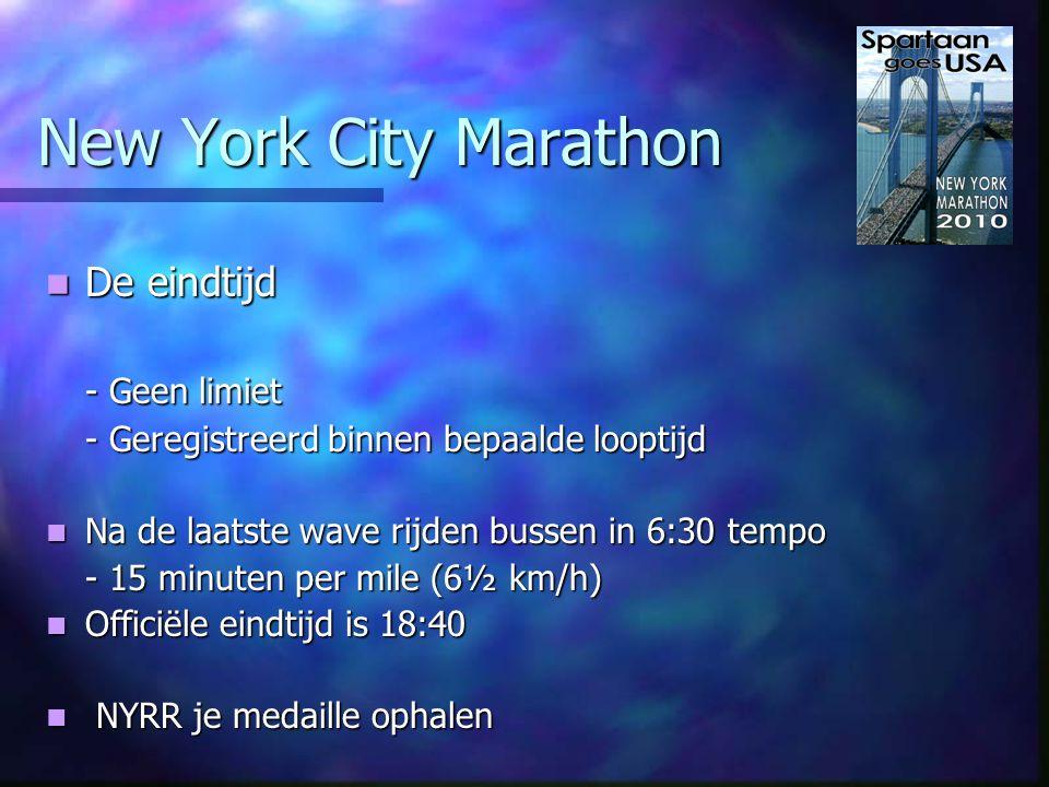 New York City Marathon Deelnemers Deelnemers Mannen 65 % - Vrouwen 35 % Mannen 65 % - Vrouwen 35 % Leeftijd; Leeftijd; - 14% 18-29- 33% 29-39 - 33% 40-49- 15% 50-59 - 4% 60-69- 1% 70+