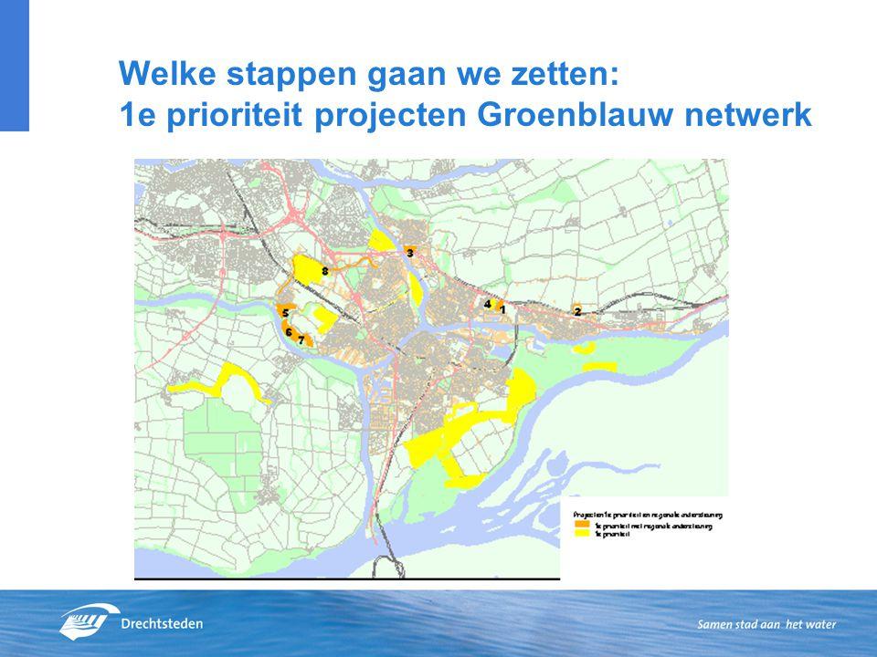 Welke stappen gaan we zetten: 1e prioriteit projecten Groenblauw netwerk