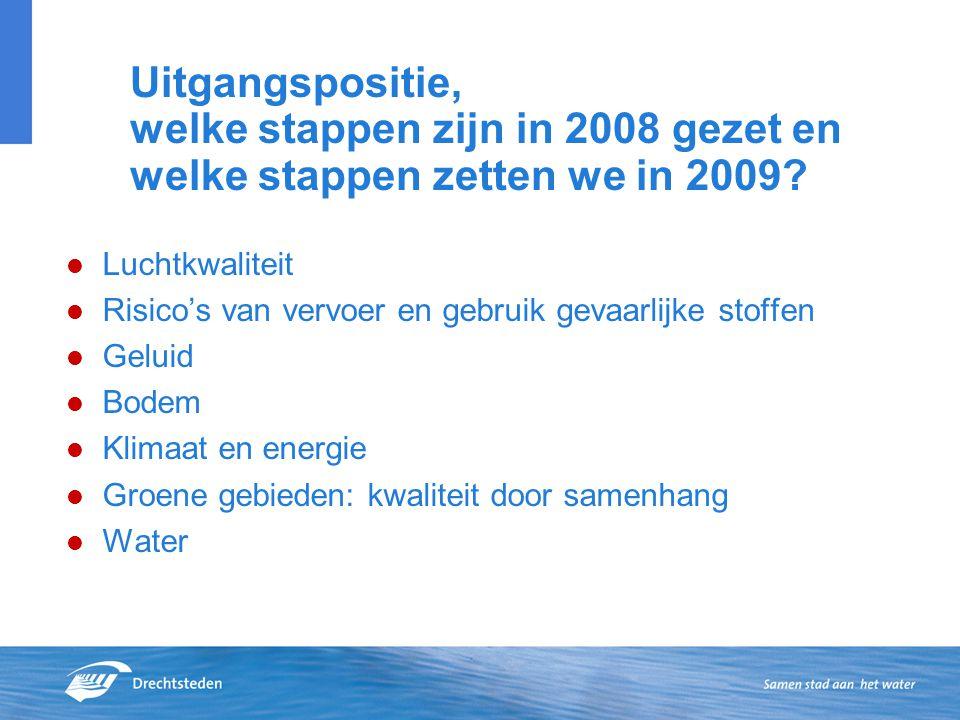 Uitgangspositie, welke stappen zijn in 2008 gezet en welke stappen zetten we in 2009.