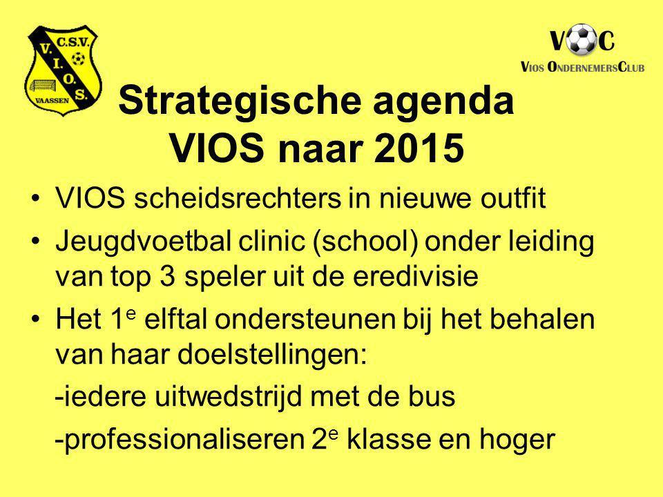 VIOS scheidsrechters in nieuwe outfit Jeugdvoetbal clinic (school) onder leiding van top 3 speler uit de eredivisie Het 1 e elftal ondersteunen bij he