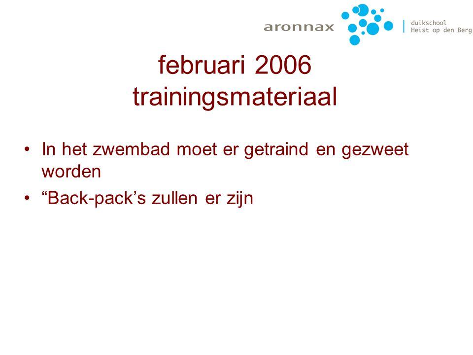 december 2005 trainingsmateriaal 3 ontspanners 3 duikflessen (12l) 2 trimvesten (l – xl) Waarde:1505€