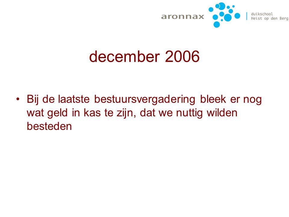 maart 2006 jeugdmateriaal 2 ontspanners 2 duikflessen (12l) 2 nargileeslangen waarde: 360€