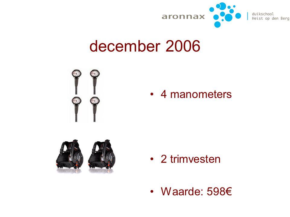 december 2006 Bij de laatste bestuursvergadering bleek er nog wat geld in kas te zijn, dat we nuttig wilden besteden