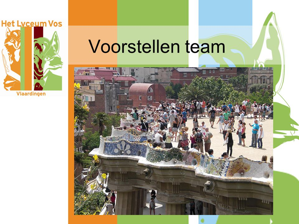 Voorstellen team