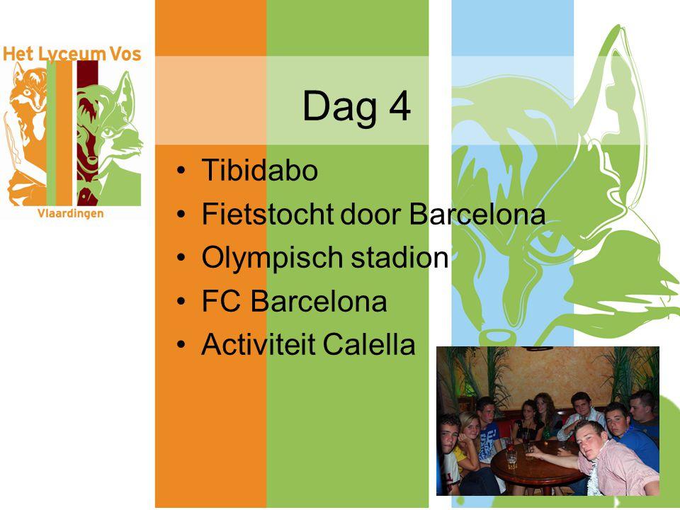 Dag 4 Tibidabo Fietstocht door Barcelona Olympisch stadion FC Barcelona Activiteit Calella