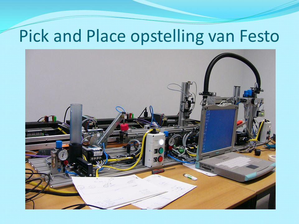 Pick and Place opstelling van Festo
