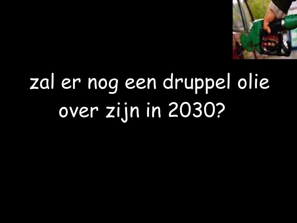 zal er nog een druppel olie over zijn in 2030