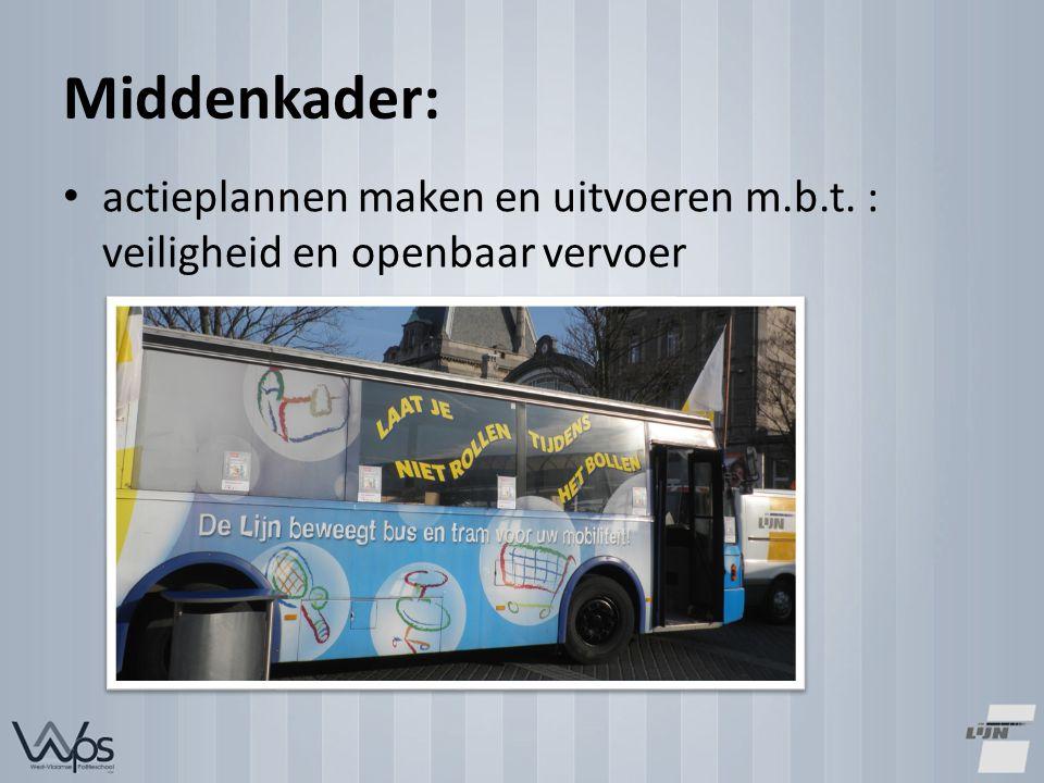 Middenkader: actieplannen maken en uitvoeren m.b.t. : veiligheid en openbaar vervoer