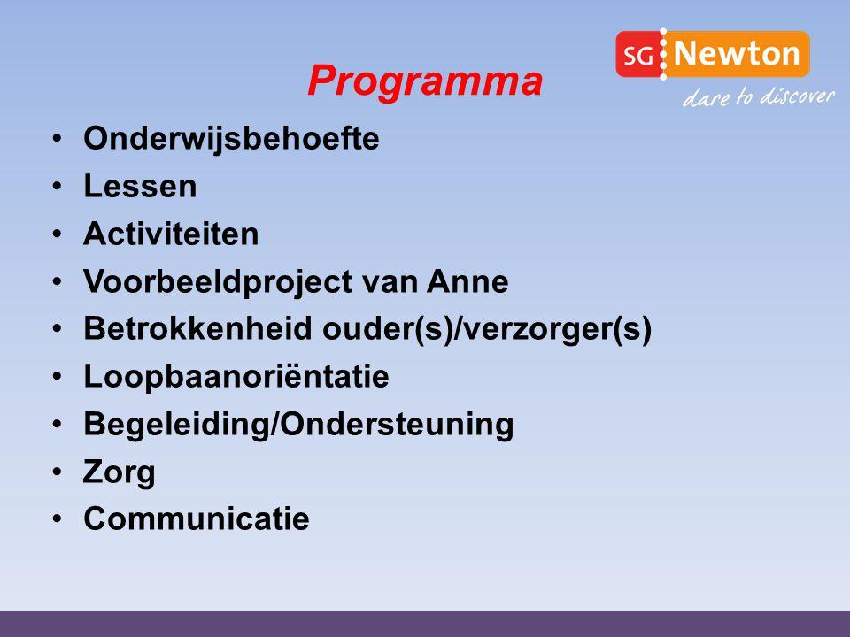 Onderwijsbehoefte leerjaar 2 indeling in niveaus: Basis Kader- / basisklas Mavo- / kaderklas Mavoklas